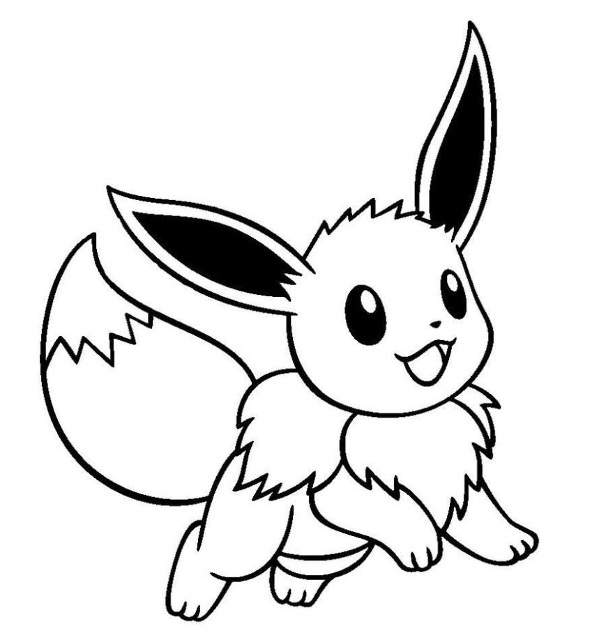 Pokemon Coloring Pages Eevee Cute Pokemon Eevee Drawings Owen Sewing Pinterest Pokemon Cute