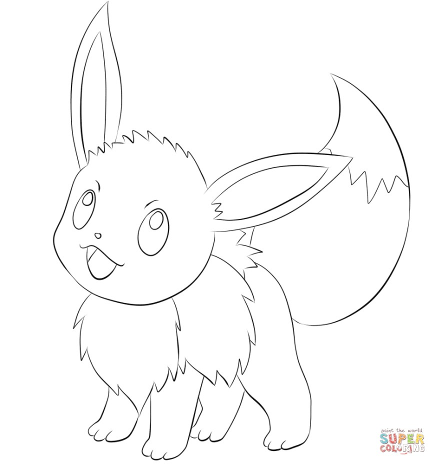 Pokemon Coloring Pages Eevee Eevee Coloring Page Free Printable Coloring Pages