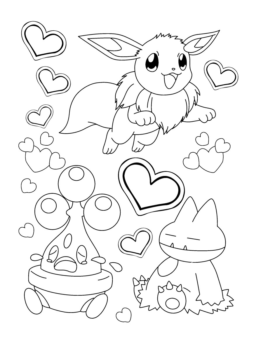 Pokemon Coloring Pages Eevee Pokemon Coloring Pages Eevee Evolutions Together Best Of Save To Her