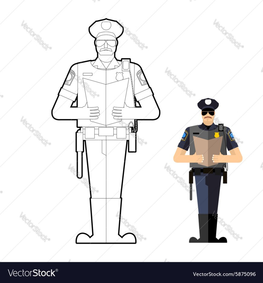Police Officer Coloring Pages Coloring Pages Policeman Coloring Book Police Officer At Work