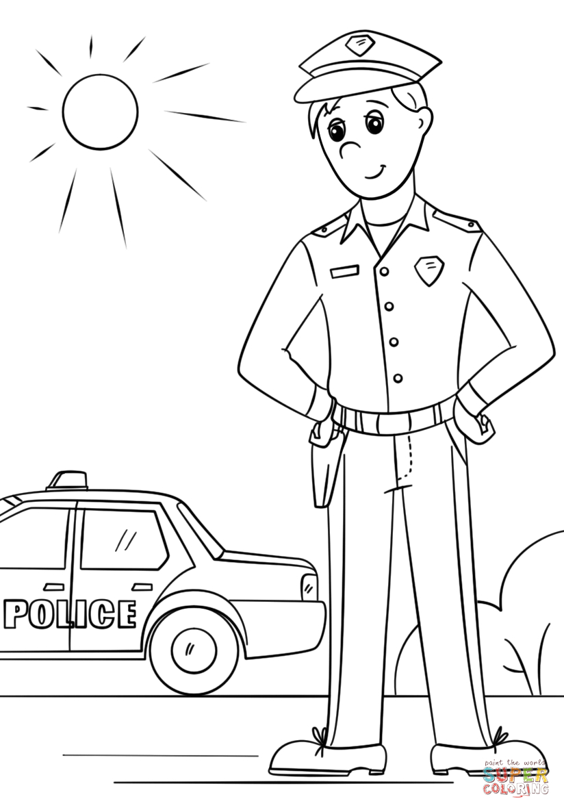 Police Officer Coloring Pages Police Officer Coloring Page Free Printable Coloring Pages
