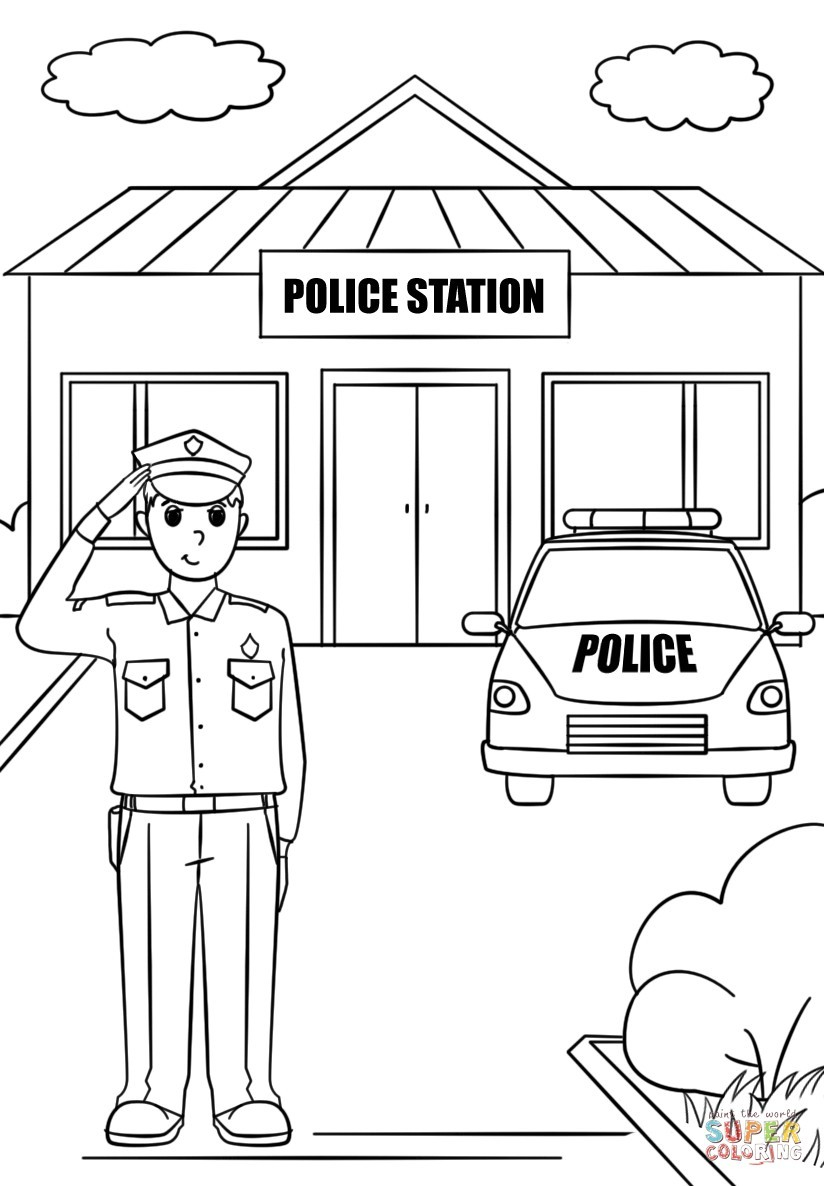 Police Officer Coloring Pages Police Officer Coloring Pages Linefa Me Best Of Capricus In Within