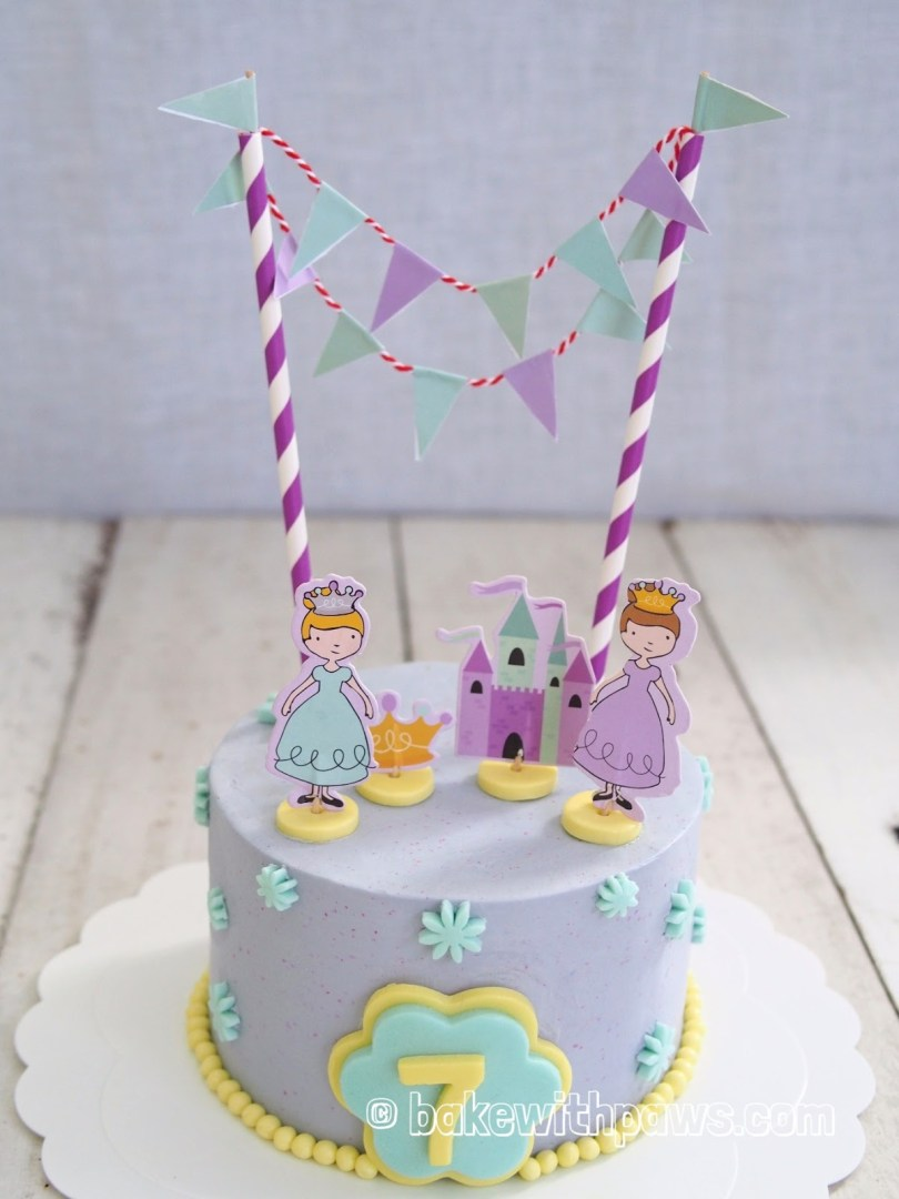 Princess Birthday Cake Princess Birthday Cake Bake With Paws