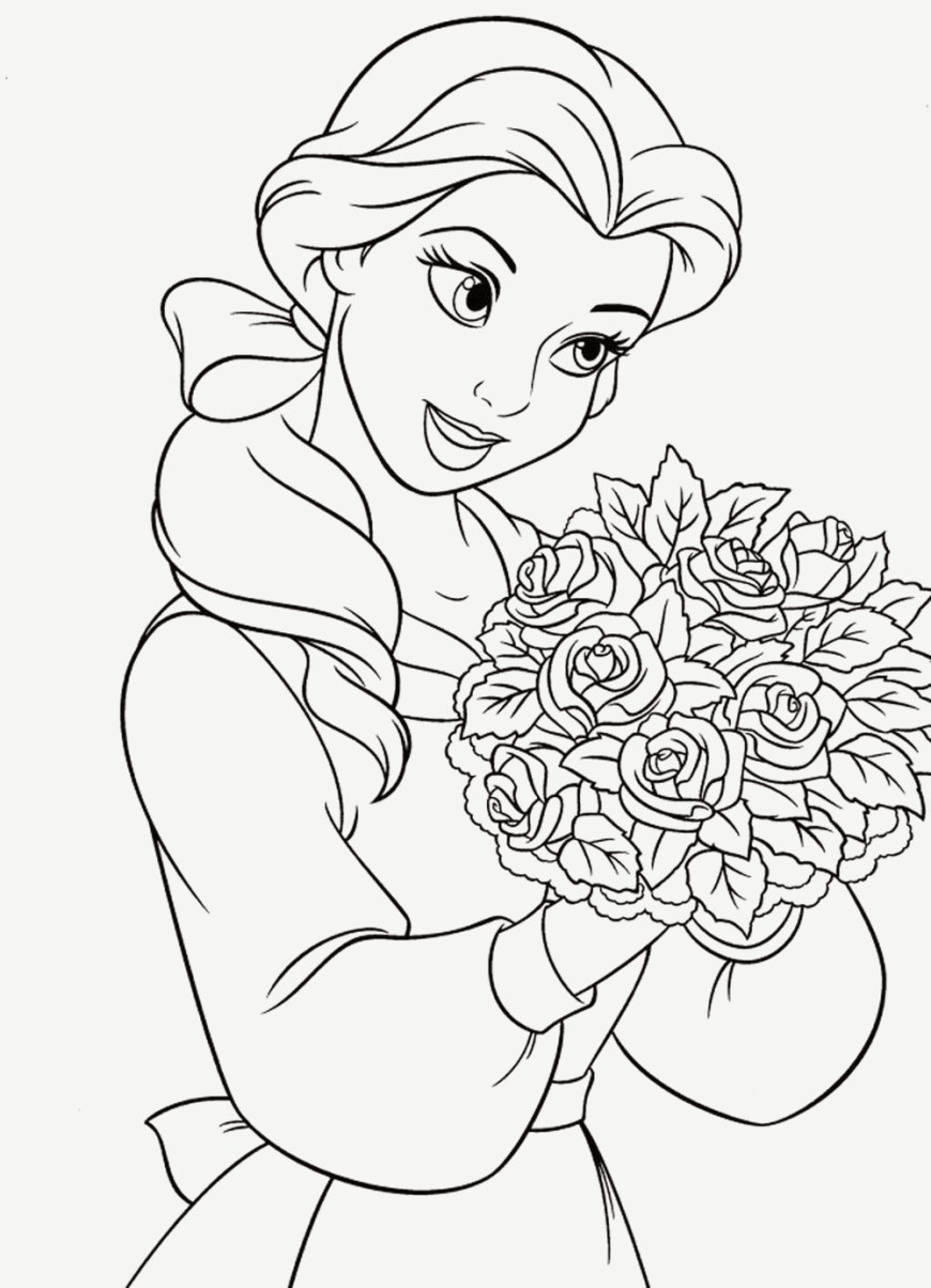 Princess Printable Coloring Pages Coloring Page Coloringge Printableges Disney Princess Ba