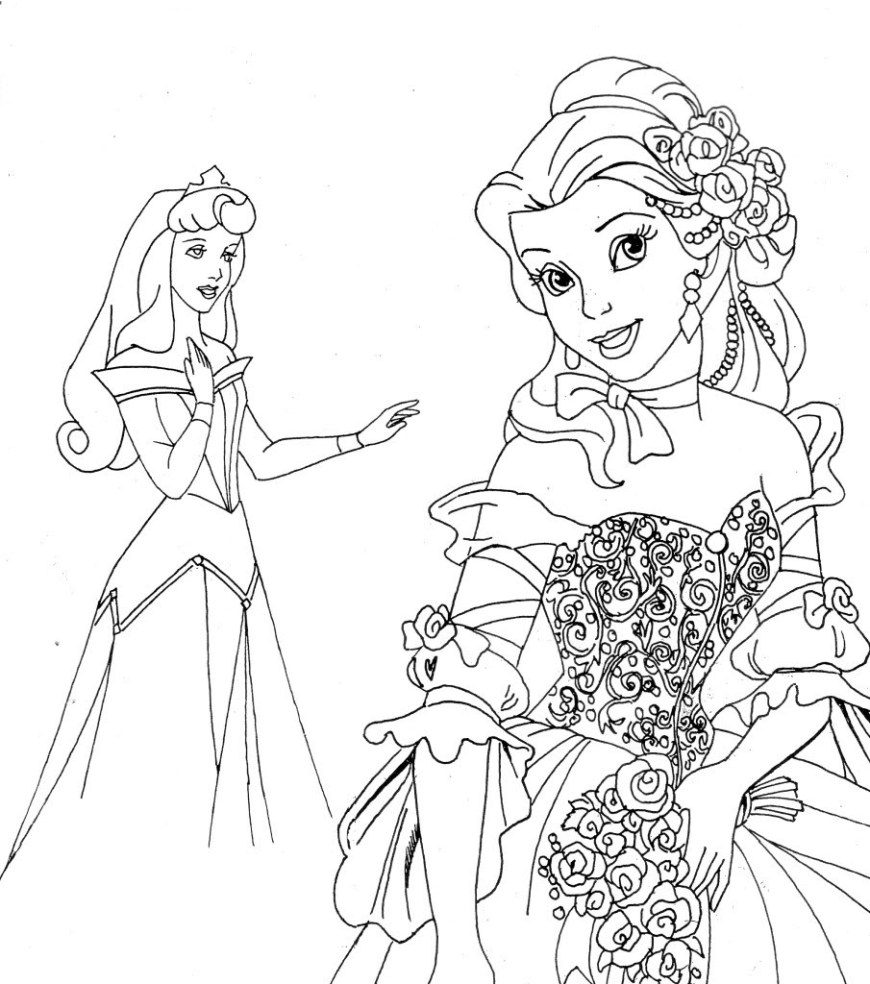 Princess Printable Coloring Pages Free Printable Disney Princess Coloring Pages For Kids