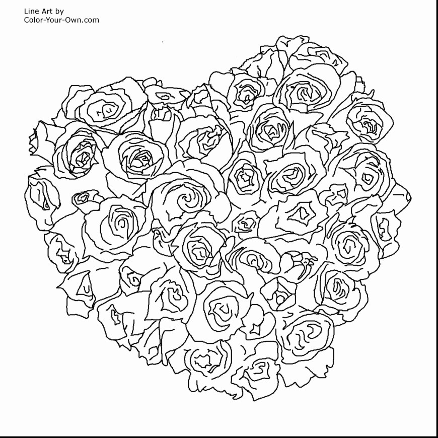 Printable Heart Coloring Pages Free Printable Heart Coloring Pages For Adults Stunning Heart