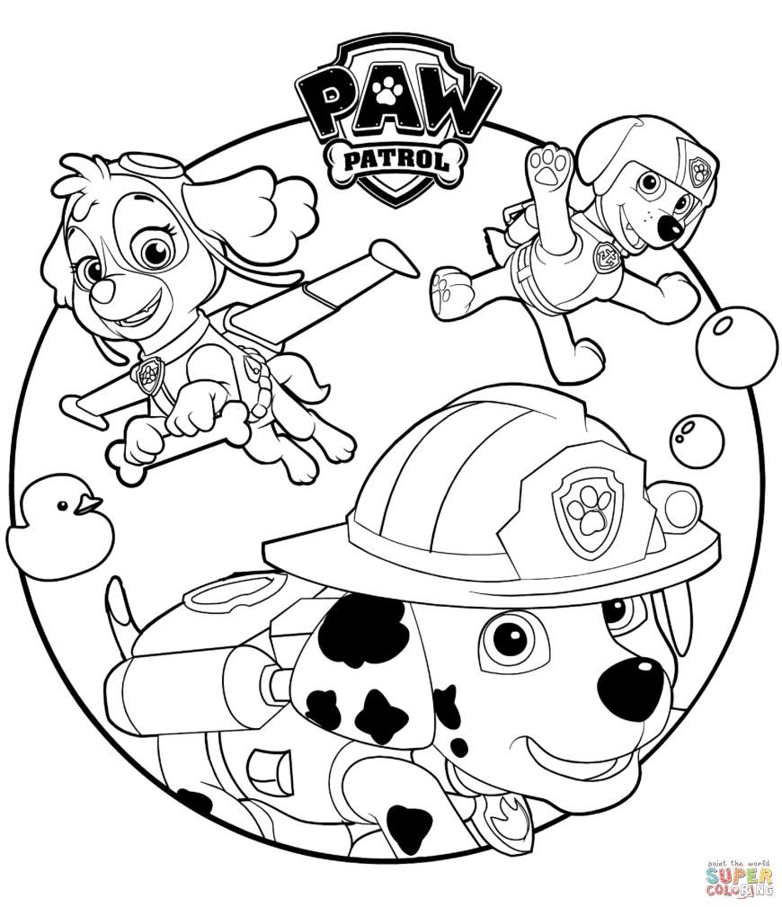 Printable Paw Patrol Coloring Pages Paw Patrol Coloring Pages Free Coloring Pages