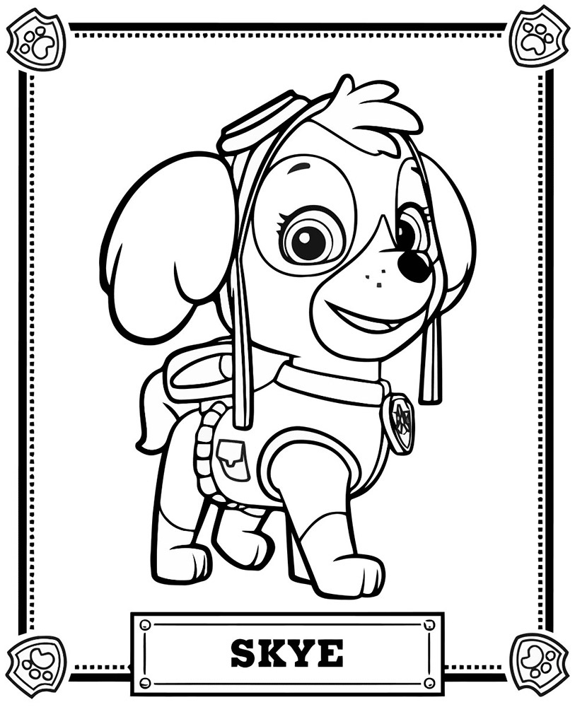 Printable Paw Patrol Coloring Pages Skye Paw Patrol Coloring Pages Cool Photos Paw Patrol Coloring Pages