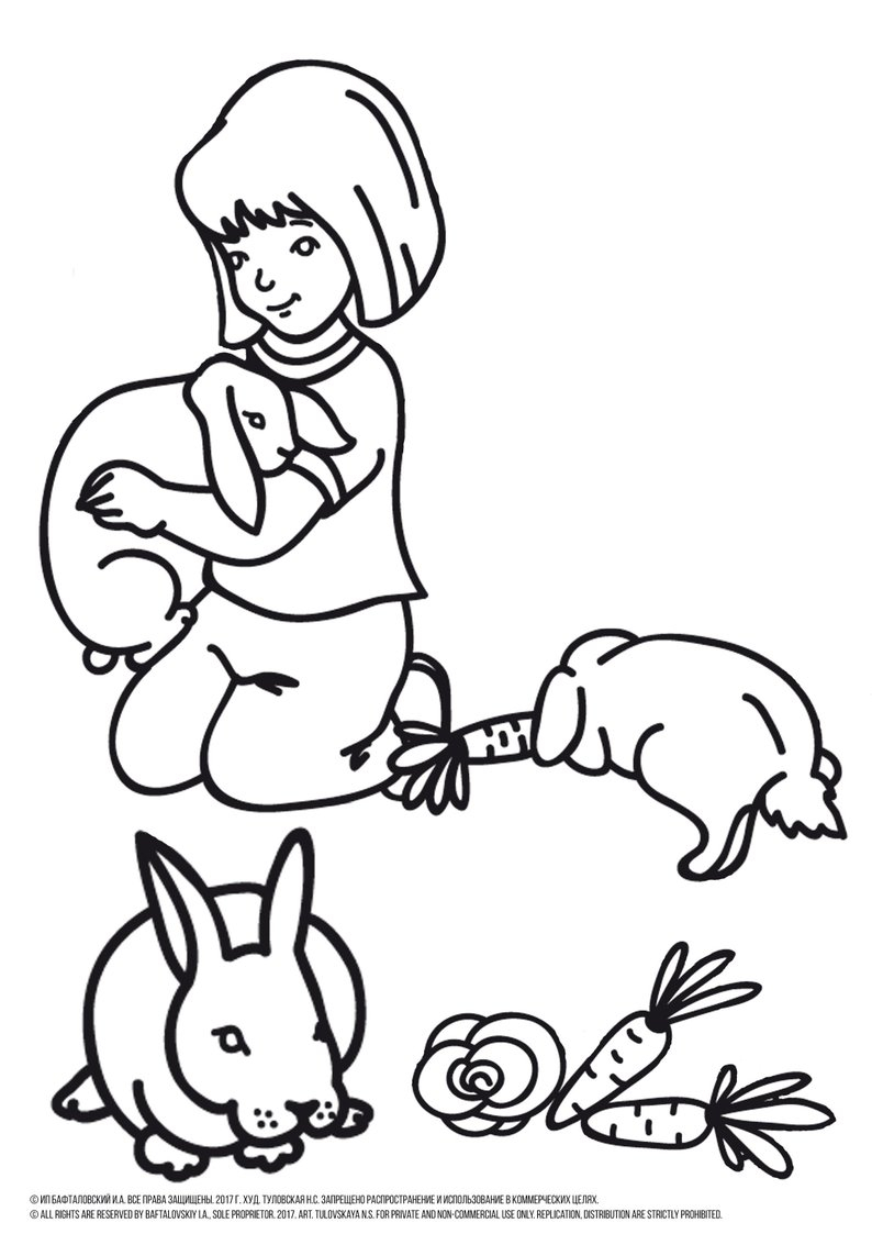 Rabbit Coloring Pages Girl Coloring Pages Bunny Coloring Pages Rabbit Coloring Etsy
