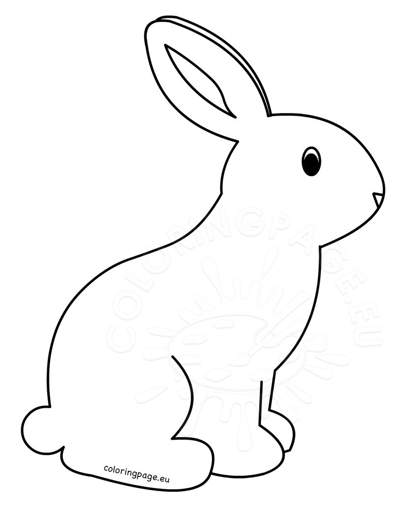 Rabbit Coloring Pages Printable Rabbit Coloring Pages For Kids Coloring Page