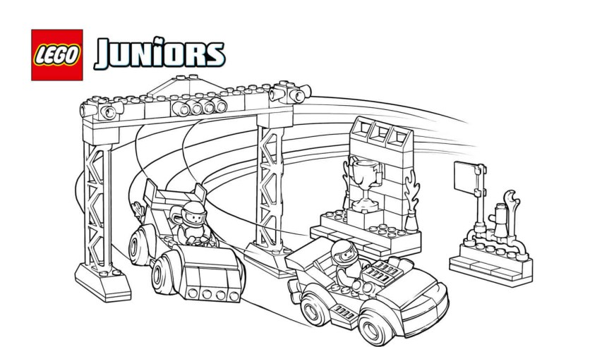 Race Car Coloring Pages Race Coloring Pages Incredible Lego Juniors Car Competition Page
