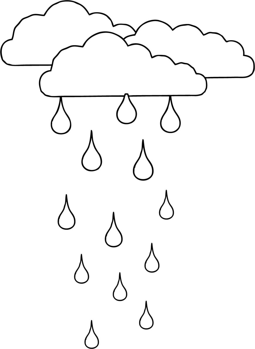 Rain Coloring Page Clouds Rain Coloring Page Wecoloringpage
