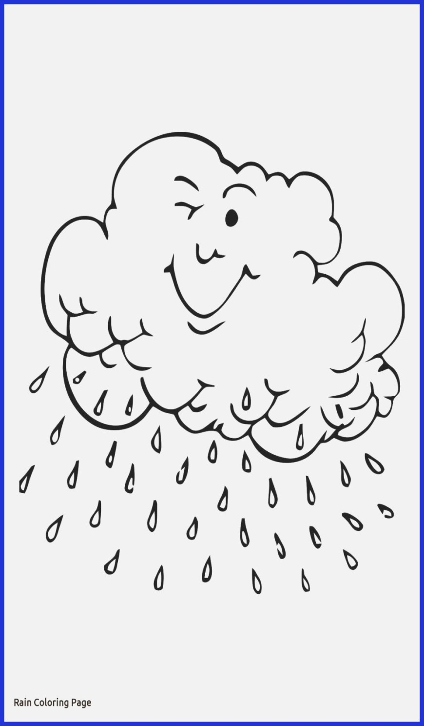 Rain Coloring Page Coloring Pages Weather Coloring Pages Printable Easy And Fun Rainy