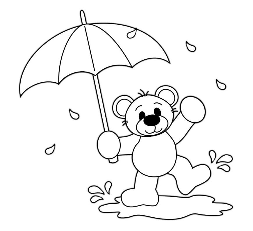 Rain Coloring Page Rain Coloring Page Coloring Pages