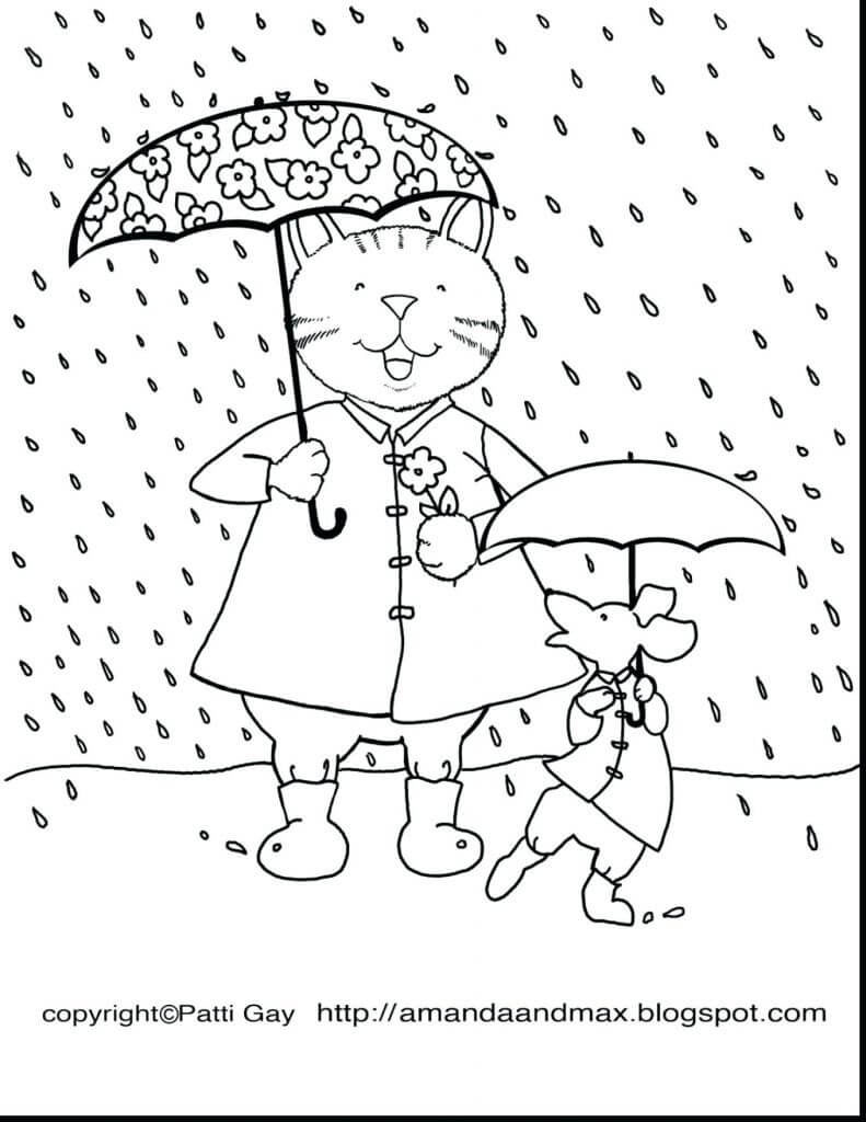 Rainy Day Coloring Pages Printable Rainy Day Coloring Pages For Kids