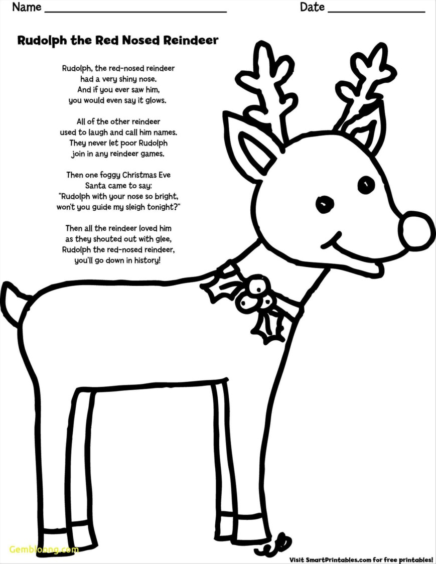 Rudolph The Red Nosed Reindeer Coloring Pages Rudolph The Red Nosed Reindeer Coloring Pages To Print Yishangbai