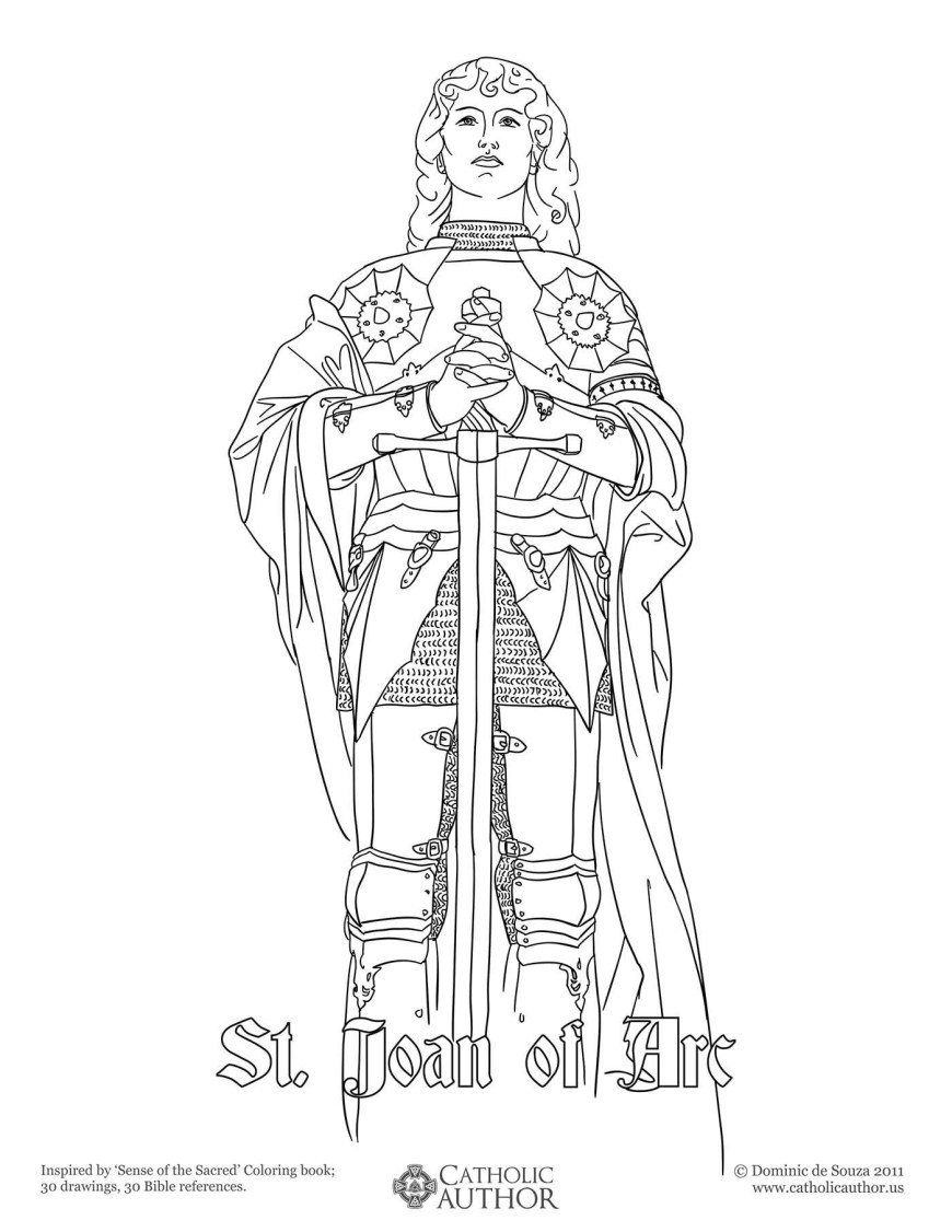 Saint Coloring Pages Catholic Mass Coloring Pages Inspirational St Joan Of Arc Free Hand