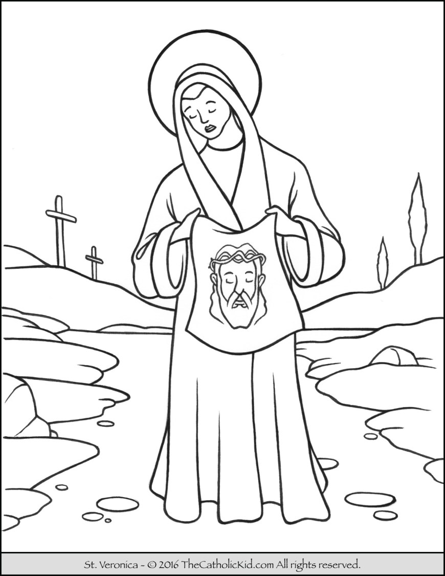 Saint Coloring Pages Saint Veronica Coloring Page The Catholic Kid