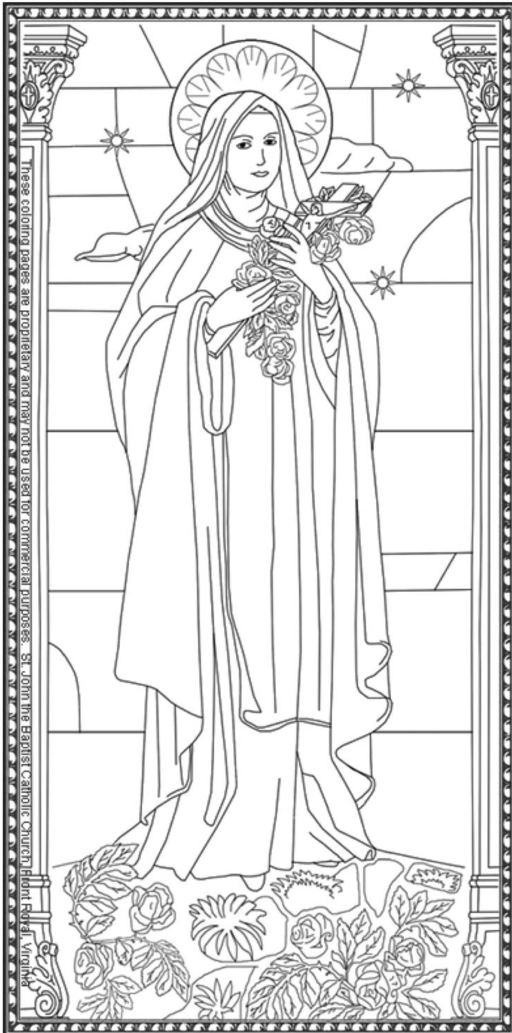 Saint Coloring Pages St John The Baptist Roman Catholic Church Front Royal Va 540