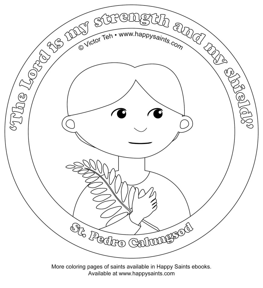 Saint Coloring Pages Stpedro Colorpage Saint Coloring Pages Ftwap