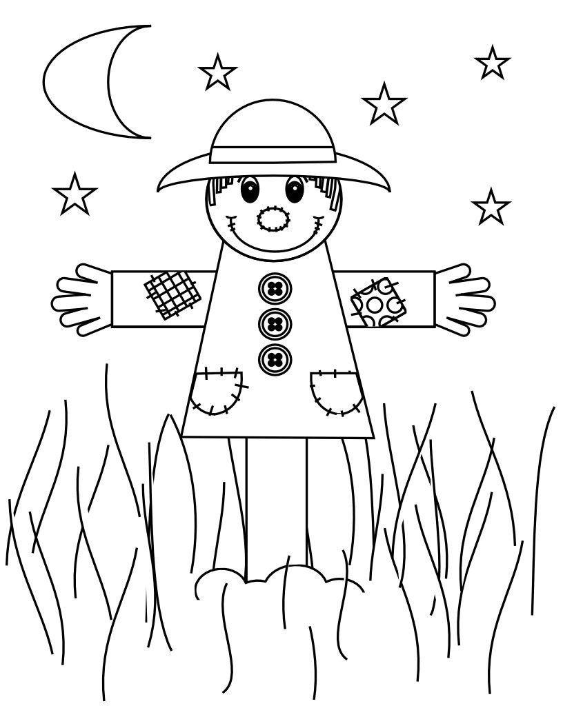 Scarecrow Coloring Page Scarecrow Coloring Page Coloring Pages For Kids