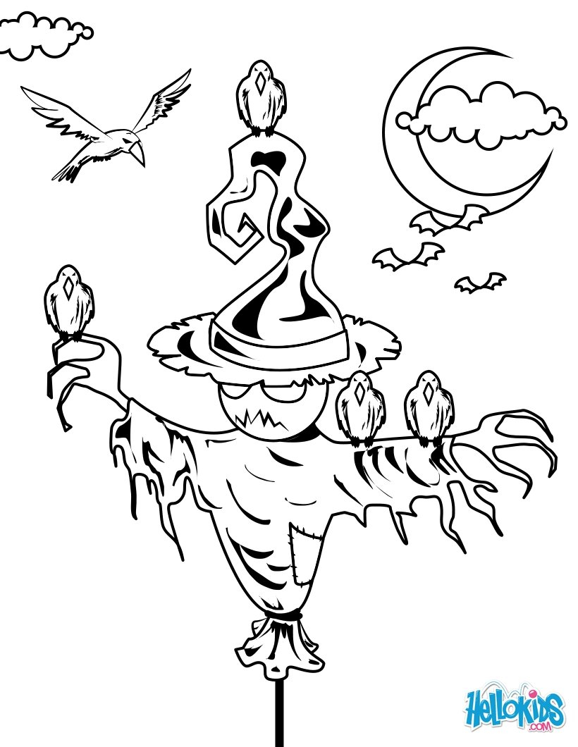 Scarecrow Coloring Page Scarecrow Coloring Pages 17 Printables To Color Online For Halloween