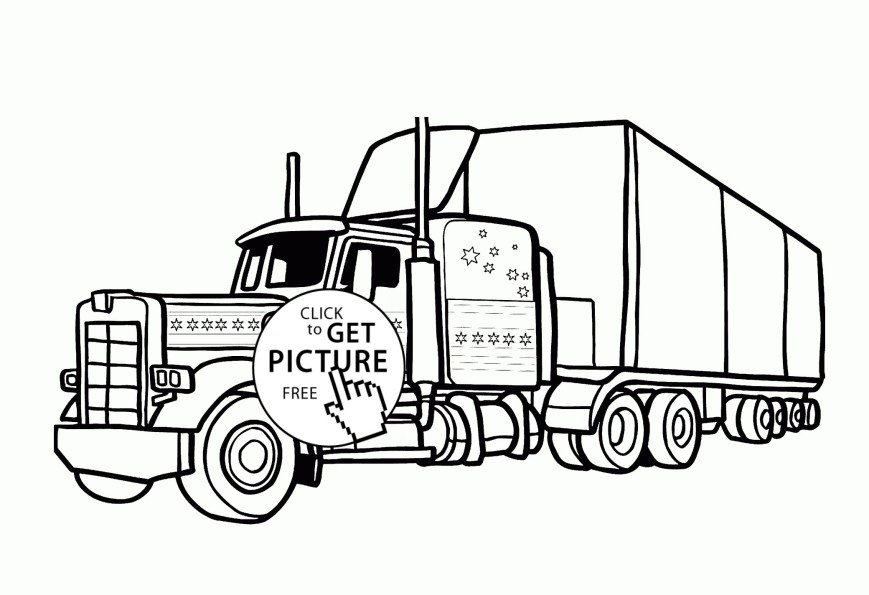Semi Truck Coloring Pages Best Semi Trucks Coloring Pages Fun Time