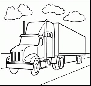 Semi Truck Coloring Pages Mack Coloring Pages At Getdrawings Free For Personal Use Mack