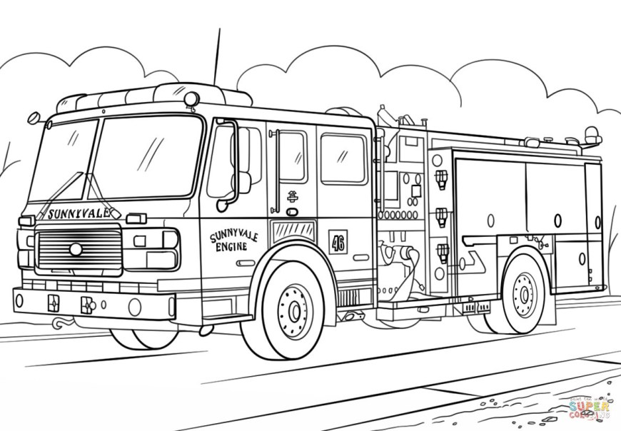 Semi Truck Coloring Pages Semi Truck Coloring Pages Fire Page Free Printable Arilitv Com