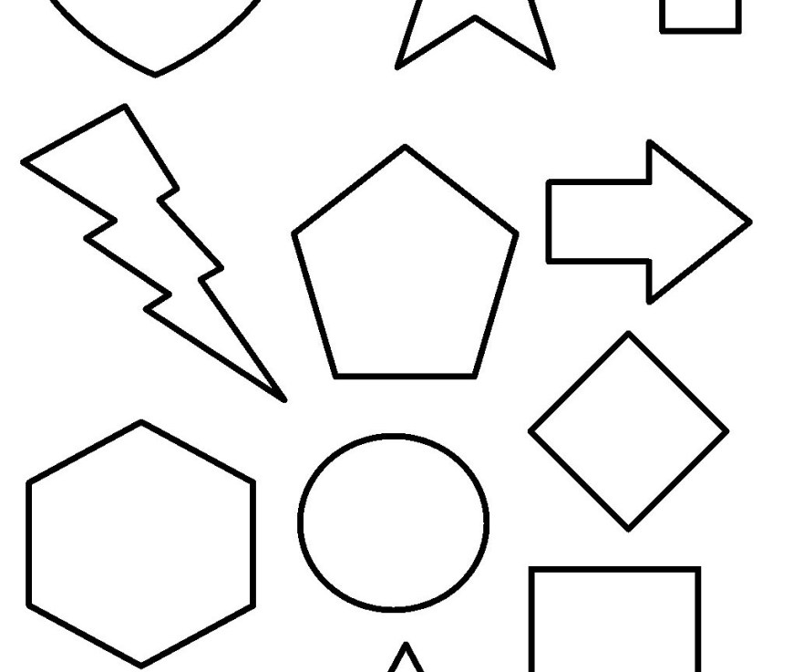 Shapes Coloring Pages Geometrices Coloring Pages Printable Free For Adults Toddlers