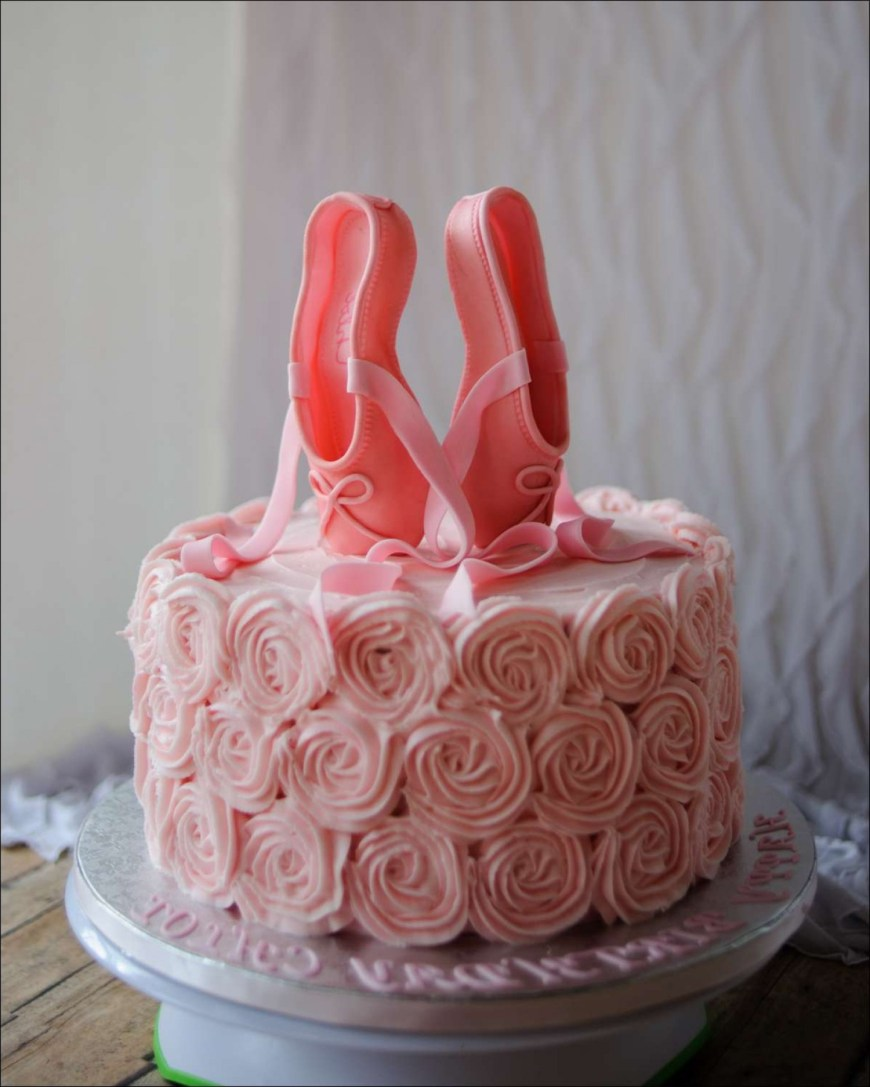 Shoe Birthday Cake Catchy Pink Ballet Pointe Shoes Birthday Cake Faalconn