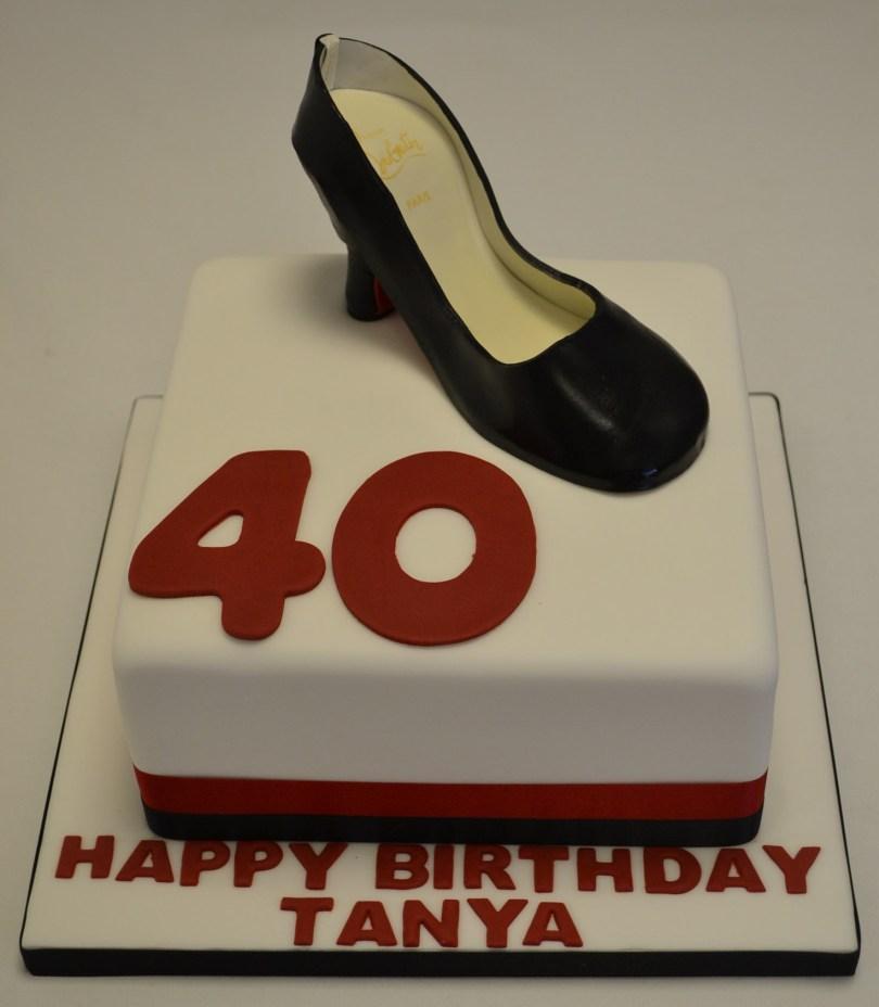 Shoe Birthday Cake Louboutin Shoe 40th Birthday Cake Celebration Cakes Cakeology