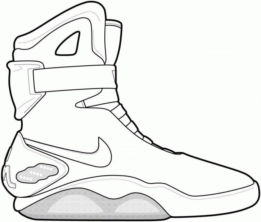 Shoe Coloring Page Drawing Jordans Shoes Coloring Pages Sub Folder Jordan At Shoe