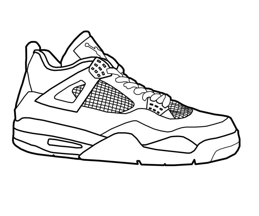 Shoe Coloring Page Shoe Color Page Ironenclave