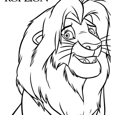 Simba Coloring Pages The Lion King Simba Coloring Pages Hellokids