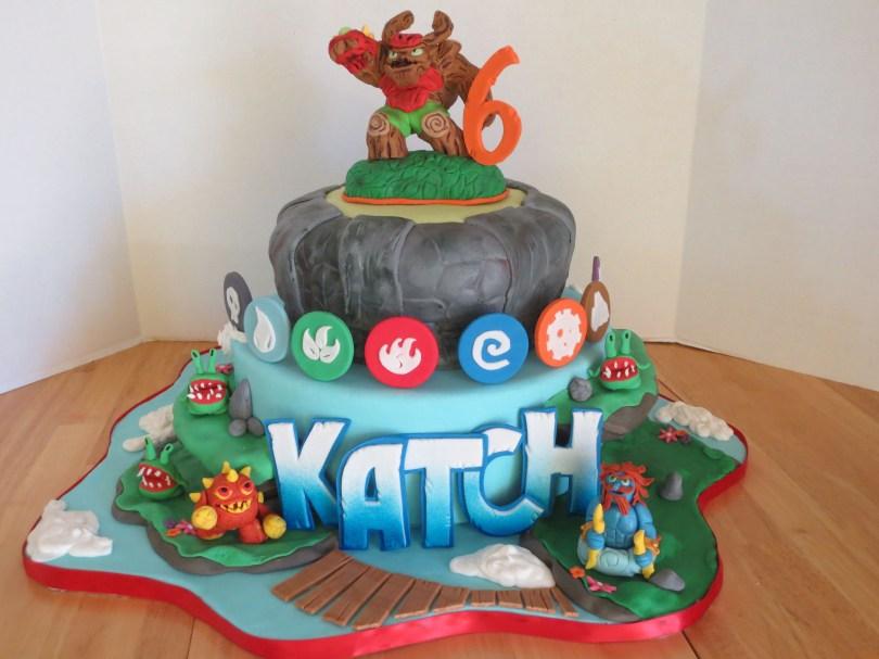 Skylander Birthday Cake My Sons Skylanders Cake 6th Birthday Ideas For Parks 5th