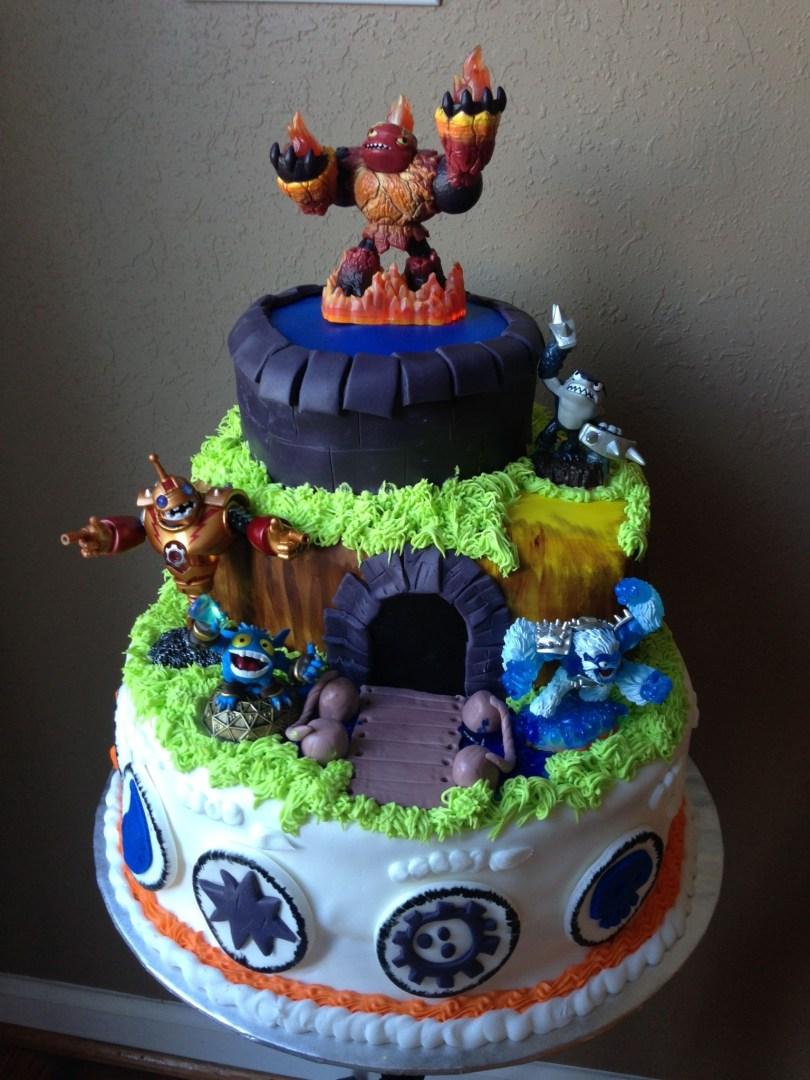 Skylander Birthday Cake Skylanders Birthday Cake Aidens Birthday Pinterest Taart