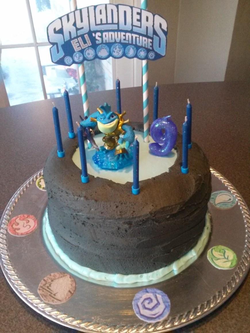 Skylander Birthday Cake Skylanders Portal Of Power Birthday Cake No Fondant Used Haley