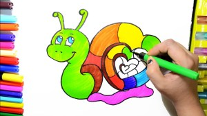 Snail Coloring Page Learn Colors For Kids And Color Rainbow Heart Snail Coloring Pages