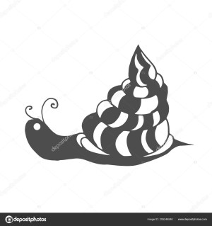 Snail Coloring Page Snail Coloring Page Children Adults Pattern Isolated Cartoon