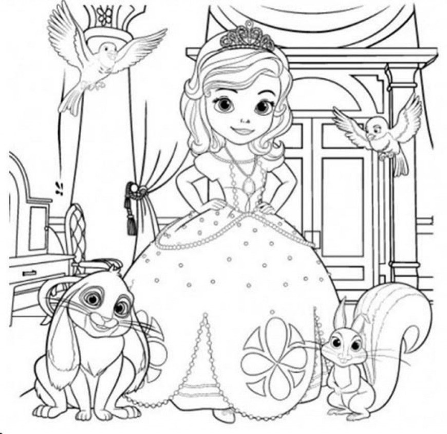 Sofia Coloring Pages Princess Sofia Coloring Pages Online Birthday Castle Adult Mermaid