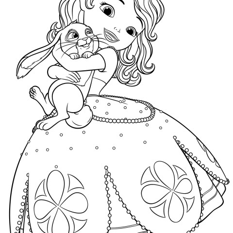 Sofia Coloring Pages Sofia And Clover Coloring Page Free Printable Coloring Pages