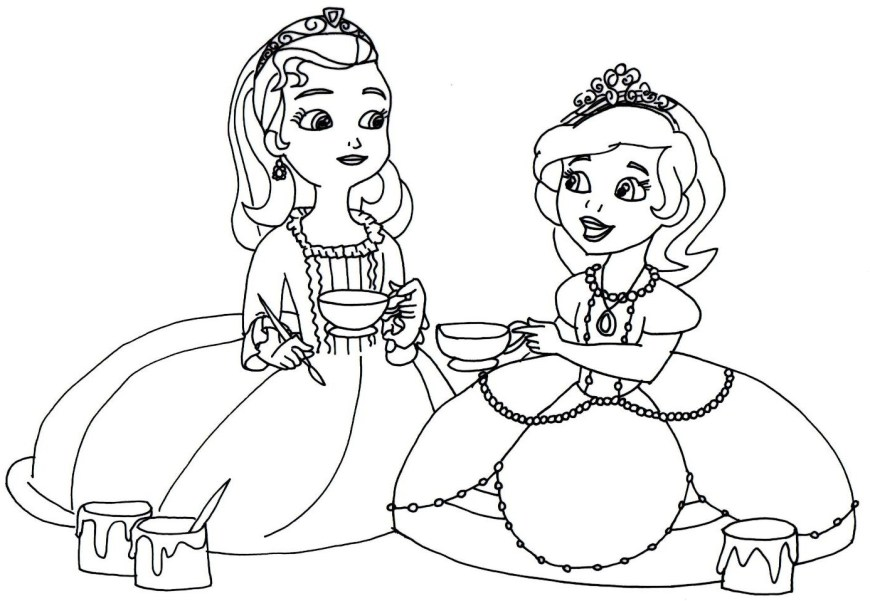 Sofia Coloring Pages Sofia The First Coloring Pages Amber With Color Bros 6 Printable