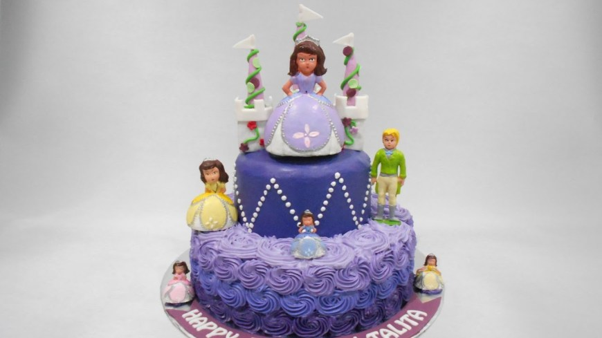 Sofia The First Birthday Cakes Princess Sofia Birthday Cake Ideas Youtube