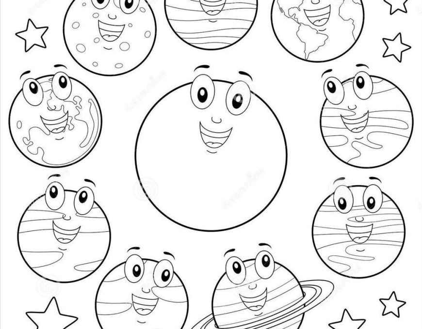 Solar System Coloring Pages Solar System Coloring Page Pages With The For Adults Sheets