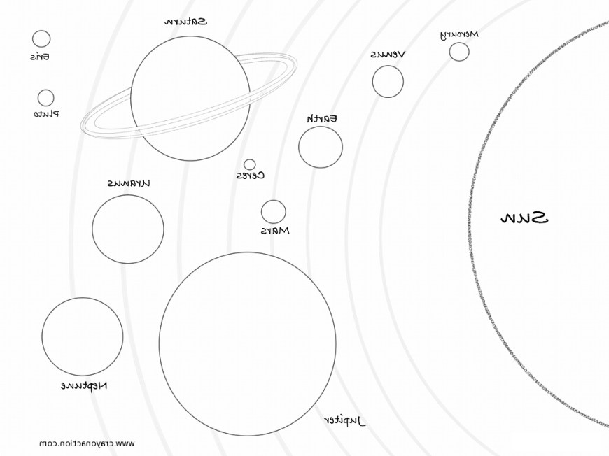 Solar System Coloring Pages Solar System Planets Coloring Mped Free Printable Solar System