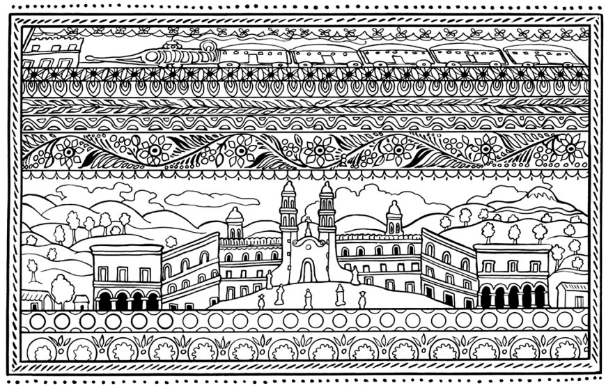 Spanish Coloring Pages Spanish Architecture Architecture Adult Coloring Pages