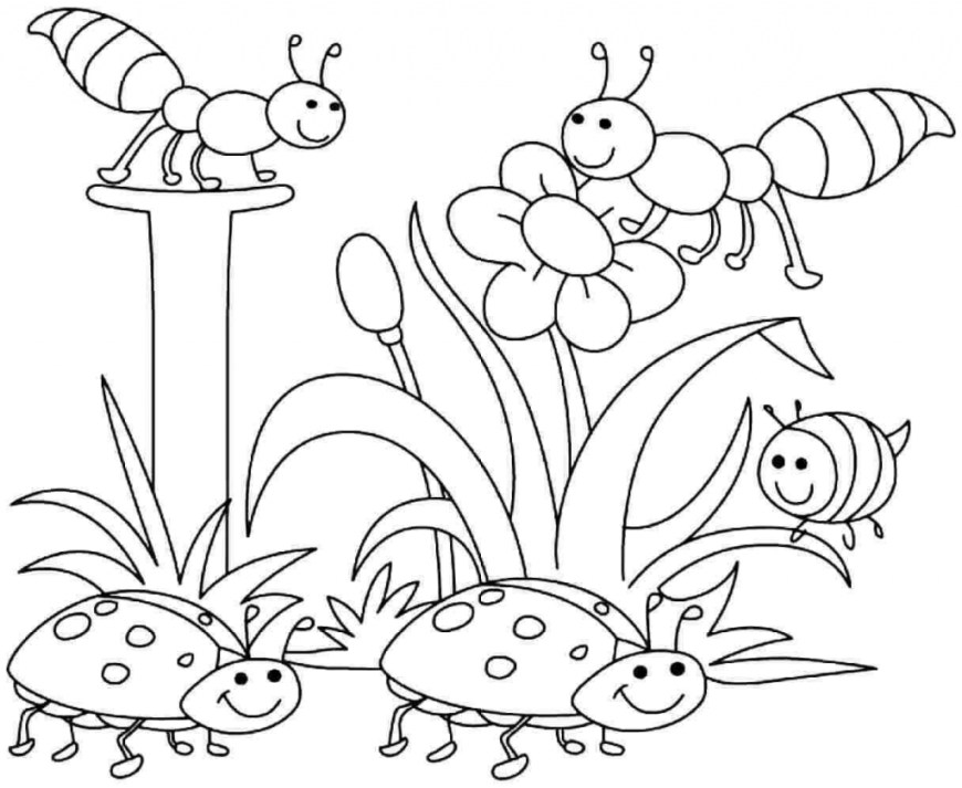 Spring Coloring Page 35 Free Printable Spring Coloring Pages
