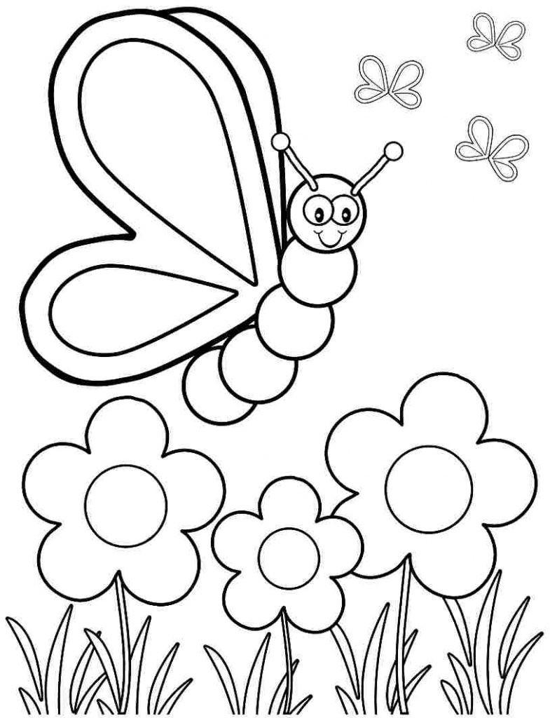 Spring Coloring Page Coloring Page Coloring Page Free Spring Pages Kids Free Spring
