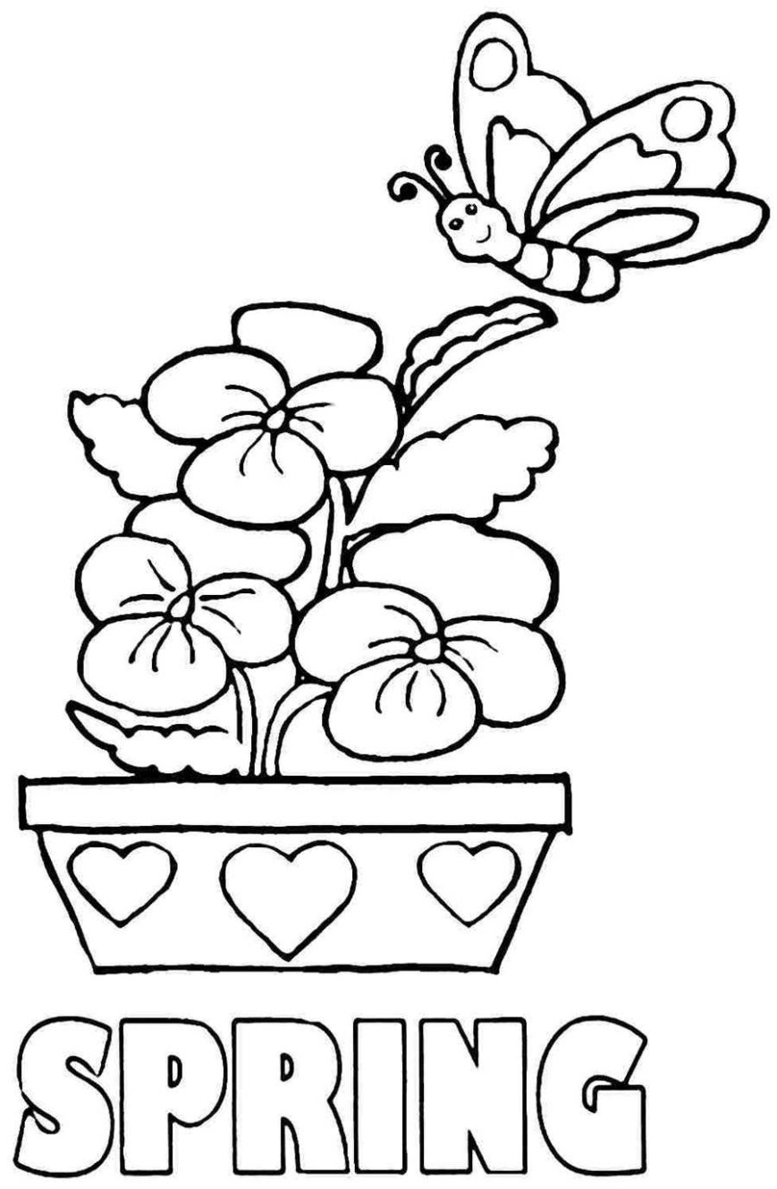Spring Coloring Page Coloring Page Springtime Coloring Pages Spring Kindergarten